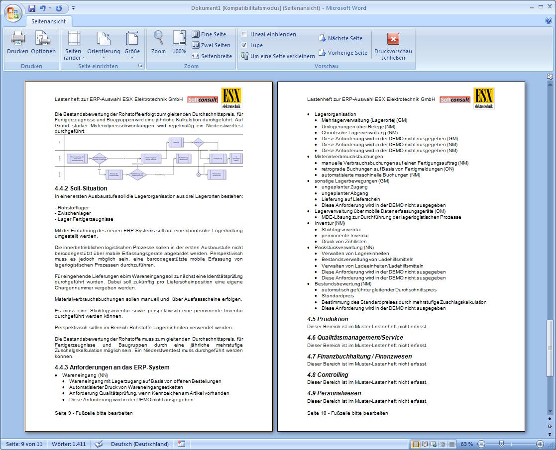 It Auswahl De Solages 174 Gesch 228 Ftsprozessanalyse Erp